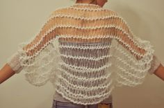 Delicate shrug. hairpin lace?