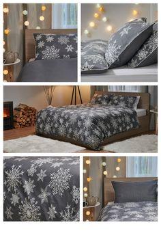 Snehová perinka u vás doma s obliečkami Warm Hug Dormeo. #dormeo #homedecor #winterdecor #bedlinen