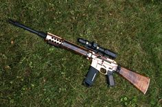 Copper plated and ohh so nice. Great piece of hardware. Military Weapons, Weapons Guns, Guns And Ammo, Ar 15 Builds, Ar Build, Custom Guns, Fire Powers, Hunting Rifles, Cool Guns