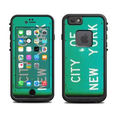 Skins FOR the Lifeproof iPhone 6 Case (Lifeproof Case NOT included) - New York Sign City Street Sign Population - Free Shipping by ItsASkin on Etsy https://www.etsy.com/listing/221199534/skins-for-the-lifeproof-iphone-6-case