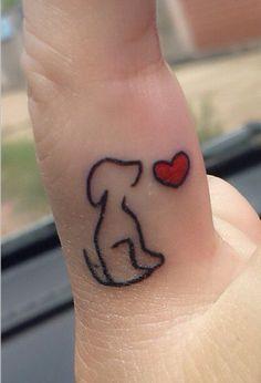 tattoo contorno cachorro