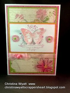 Close To My Heart Christina Wyatt- lucy paper butterfly card