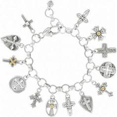New BRIGHTON Sanctum Cross JOAN OF ARC charm on custom necklace  FREE SHIPPING !
