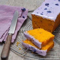Cake carotte cake violette - Marie Claire Maison