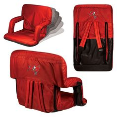 Picnic Time Ventura Seat - NFL Tampa Bay Buccaneers - Red