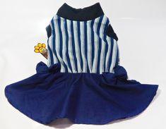 Vestido Listrado Azul - TAM P