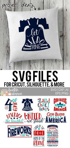#patrioticsvg #americansvg #4thfojulysvg #silhouettecameo #silhouette #cricutexplore #cricutmaker So many possibilities of DIY projects with this Patriotic SVG Bundle. Make signs, pillows, t-shirts and more for with this SVG file. Patriotic Bundle Ai, SVG, PNG, EPS & DXF download. Patriotic SVG Bundle, SVG files works with Cricut, Cameo Silhouette and other major cutting machines. Patriotic SVG, 4th of July SVG Cut file download.