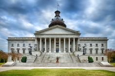South Carolina State House building in Columbia.