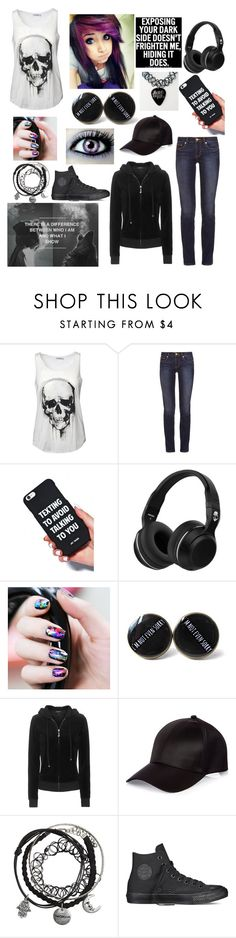 """""""@trxpped-in-insxnity OC Alex Crush"""" by winternightfrostbite ❤ liked on Polyvore featuring Tory Burch, Skullcandy, Juicy Couture, River Island and Converse"""