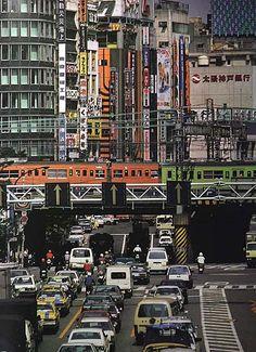 甲州街道と新宿大ガード 1980年代