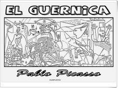"Cuadros famosos de grandes pintores para colorear: ""Picasso"" (Rosafernandezsalamancaprimaria.blogspot.com.es)"