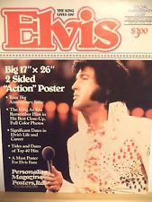 Elvis Presley - The King Lives On 17x26 Poster Magazine 1987 VG condition RARE