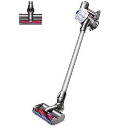 Front view of the Dyson cordless vacuum cleaner. Natural colour with white two-tier cyclone pack. Car Cleaning, Deep Cleaning, Cleaning Supplies, Weekly Cleaning, Spring Cleaning, Cleaning Closet, Cleaning Hacks, Good Vacuum Cleaner, Cordless Vacuum Cleaner