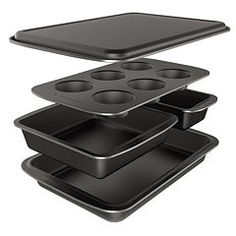Baker's Secret Easy Store 5-pc. Nonstick Bakeware Box Set