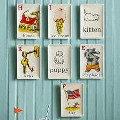 Children's Flashcard Valets