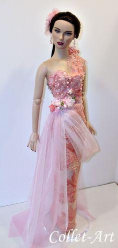 "https://flic.kr/p/U6rK2N | OOAK Tonner 22"" American Model Fashion Clothes ""Coral Rose"" by Collet-Art"