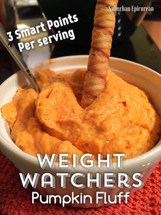 Suburban Epicurean: Weight Watchers Pumpkin Fluff 3 Smart Points per serving! Super easy and yummy dessert. Ww Recipes, Fall Recipes, Cooking Recipes, Recipies, Healthy Recipes, Light Recipes, Healthy Treats, Summer Recipes, Low Calorie Desserts