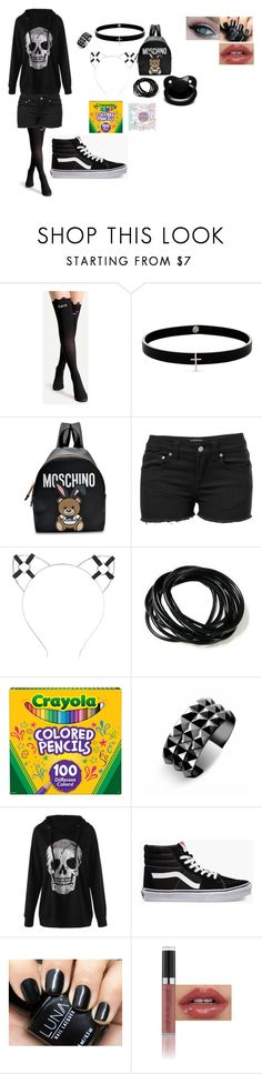 """My mood"" by getjinxed205 on Polyvore featuring Lynn Ban, Moschino, Venus, Charlotte Russe, Pusheen, Waterford and Vans"