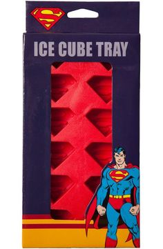 The Fortress of Solitude isn't the only place you can find super ice. Now with this Superman ice cube tray, you can have your own ice cubes that will look like the Man of Steel's unmistakable S chest