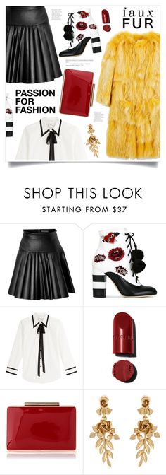 """""""Passion For Fashion"""" by marina-volaric ❤ liked on Polyvore featuring Blugirl, David Koma, GEDEBE, Marc Jacobs, Oscar de la Renta and fauxfurcoats"""