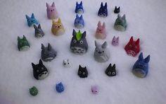 Polymer clay Totoros.