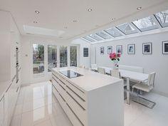 Contemporary white gloss kitchen in Maidenhead Modern Kitchen Renovation, Modern Kitchen Interiors, Home Decor Kitchen, Interior Design Kitchen, Kitchen Ideas, Kitchen Designs, Kitchen Updates, Modern Kitchens, Ikea Kitchen