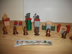 1999 Kinder Surprise игрушки-набор из 6 замков и металлических фигур K98 n99-k98…