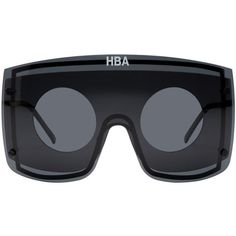 Hood by Air Black Gentle Monster Edition Marz Sunglasses ($475) ❤ liked on Polyvore featuring men's fashion, men's accessories, men's eyewear, men's sunglasses and black