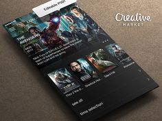 Cinema App PSD