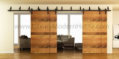 AUSTIN - DOUBLE BYPASS Sliding Barn Door Hardware
