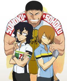 YowaPeda ~~ A mentor and his protégés. :: Tadokoro, Aoyagi, and Teshima