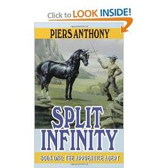 Another great series from one of my favorite authors, Piers Anthony.  The Apprentice Adept series has both sci-fi and fantasy worlds.  My sister got me into reading this genre when I was in junior high--she thought I'd like the book because it had a unicorn on it, and she was right!  Great books!