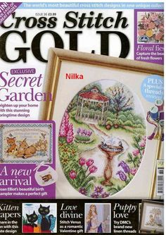 Cross Stitch Gold. Issue 36. Full Magazine. Follow Link For Downloads. *saved for cat chart*