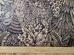 Spectacular forest landscape carved in wood - Paul Roden and Valerie Lueth, aka Tugboat Linoprint, Feather Painting, Forest Landscape, Naive Art, Vintage Labels, Linocut Prints, Art Plastique, Woodblock Print, Art Google