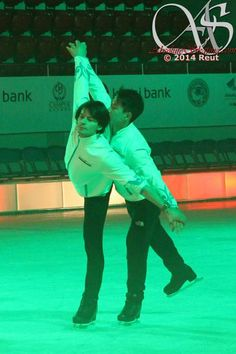 A Star pair is born... (?)  @ Almaty, rehearsal for Denis Ten & Friends