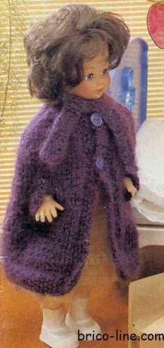 Cape: Longueur des poupées: 35 -40- 45 cm - http://www.brico-line.com/fr/index.php/ouvragesk2/item/1079-cape
