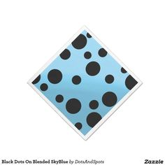 Black Dots On Blended SkyBlue Standard Cocktail Napkin