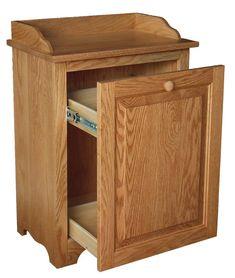 Wood Slideout Laundry Hamper - Amish Furniture