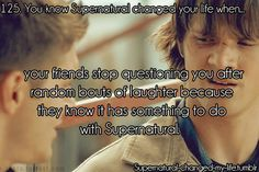 You know Supernatural changed your life when... (hubby is learning)