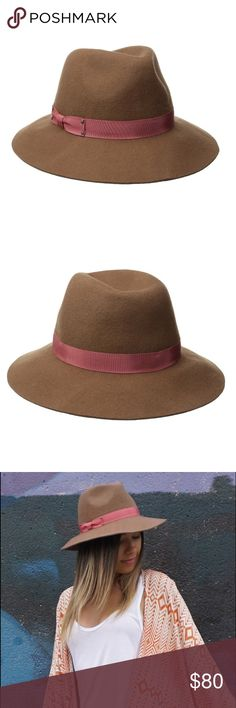 a6f83f8628b60 Genie by Eugenia Kim wool fedora wide brim hat NWT A camel-coloured wool  felt