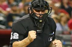 A perfect example of why you should be handicapping MLB umpires Football Helmets, Mlb