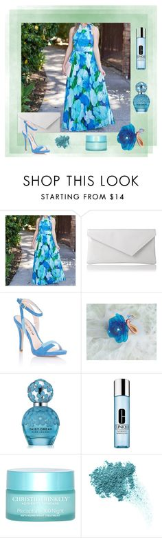 """""""Blue & Turquoise"""" by styledonna on Polyvore featuring moda, Rene, Joelle, L.K.Bennett, Lipsy, Marc Jacobs, Clinique, SkinCare i Bare Escentuals"""