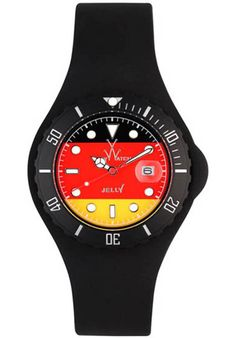 Price:$80.50 #watches ToyWatch JYF06GE, Resin case, resin strap, German flag Dial, Quartz Movement, Scratch resistant mineral, Water resistant up to 5 ATM - 50 Meters - 165 Feet Toywatch, Mineral Water, Resin, German, Flag, Quartz, Watches, Football Soccer, Deutsch