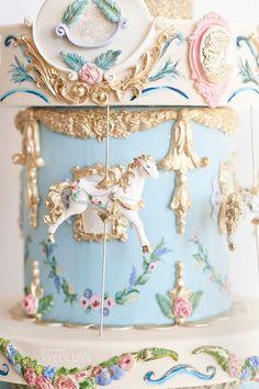 Gilded carousel cake