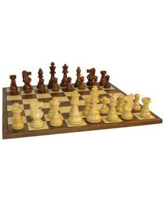 Vintage Drueke Wooden Game Board Walnut /& Birch 15 by 15 Double Sided Chess Checkers
