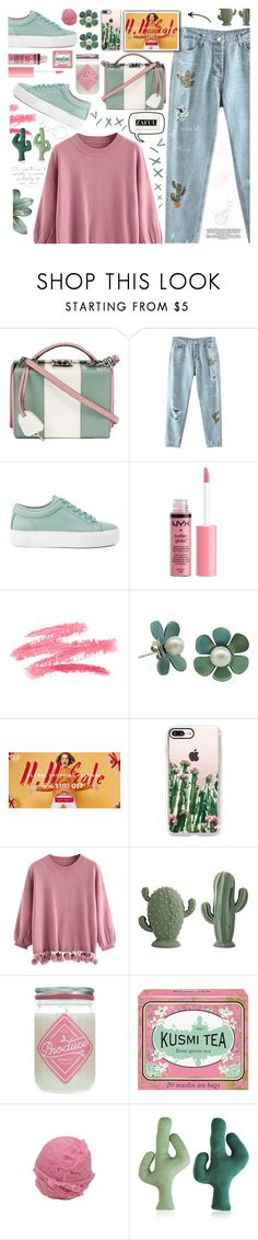 """""""Sale Shopping Festival-ZAFUL"""" by tinkabella222 ❤ liked on Polyvore featuring Mark Cross, Charlotte Russe, Casetify, Kusmi Tea, StreetStyle, rippedjeans, casualstyle, PurpleSweater and zaul"""