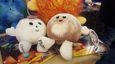 The cutest thing we've seen so far at 2016 New York Toy Fair was the newest plush toy to join the Celestial Buddies line of stuffed planets. The newcomer isn't just one plush, but two: Pluto and Charon.