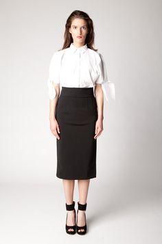 Lennon Courtney Tie Sleeve Shirt Waist Skirt, High Waisted Skirt, Shirt Sleeves, Tie, Spring, Skirts, Collection, Fashion, Moda