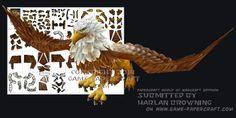 x_ Ninjatoes' papercraft weblog: Papercraft World of Warcraft Gryphon