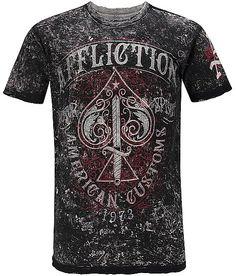 Affliction American Customs Death Spade T-Shirt